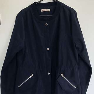 Navy Bomber With Silver Details