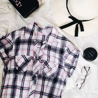 REPRICED! Checkered Button-down top