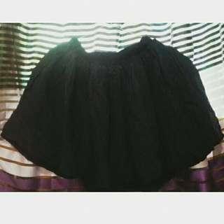 Black Messy Skirt