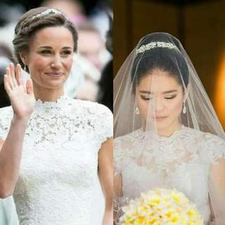 Great resemblance to Pippa Middleton wedding dress but at a much better price tag!!