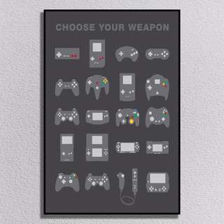 Poster Photo Canvas Choose Your Weapon Game - 40x60cm [Pre Order 1 Hari]