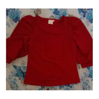 Magnolia Red Blouse