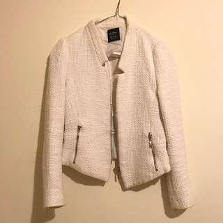 Zara Trafaluc Tweed Blazer Jacket