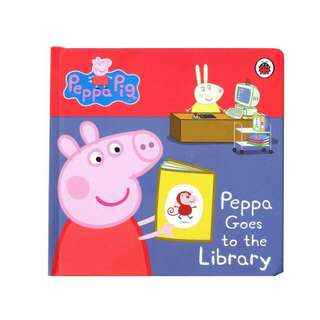 "BUKU IMPORT PEPPA PIG ""PEPPA GOES TO THE LIBRARY"""
