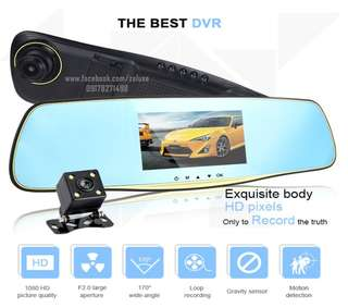 #1 HD TOUCH SCREEN DUAL LENS Rearview Mirror Car Dash Cam Camera Recorder DVR dashcam