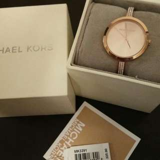 Michael Kors Studded Bangle Watch (Rose Gold)