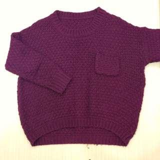 針織酒紅毛衣 #六月免購物直接送