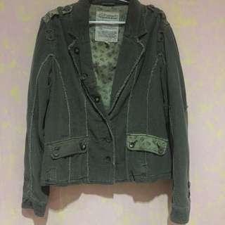 Fox Handcrafted Dark Green Jacket
