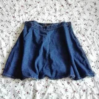 MUSTGO Glassons A-line Denim Skirt
