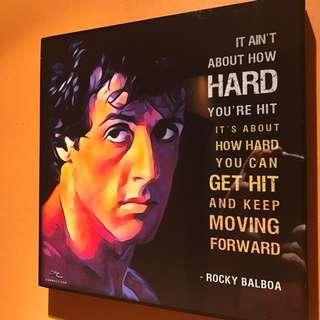 Rocky Balboa : Pop Art Poster Frame