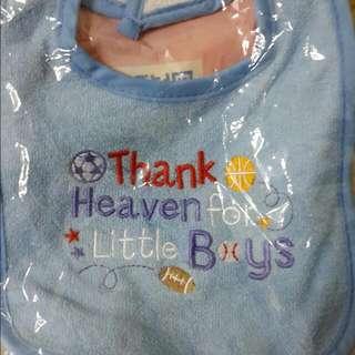 一整組幼兒圍兜兜 +小方巾