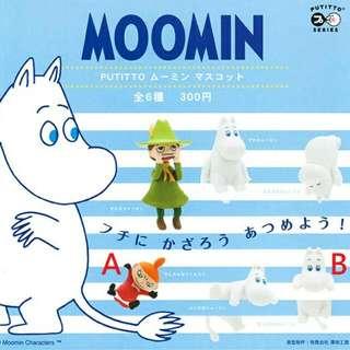 扭蛋 Putitto Moomin 嚕嚕米 杯緣 杯緣子 小不點 轉蛋 盒玩 公仔 偷看