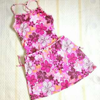 Barbie Pink One Piece With Skirt