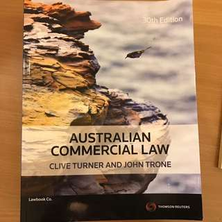 Australian Commercial Law 30th Edition Clive Turner & john Trone
