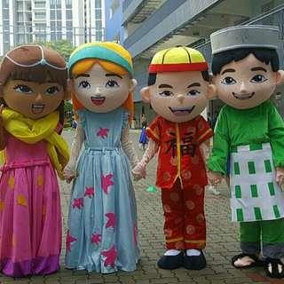 Mascot Sale Multi Racial Harmony National Day Singapore
