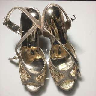 Gold Sandals Size 8 - Bought From Lazada