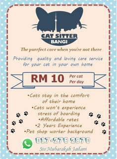 Boarding Kucing through Cat Sitter Bangi