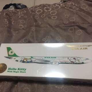 Hello Kitty Eva Air Model Aircraft