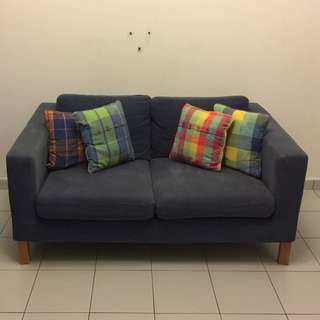 Changeable Cushion Sofa (Blue & Red)
