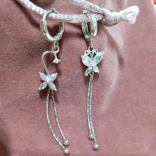 💎MAC Look 925 Crystal Sterling  Silver Earring純銀水晶 耳環