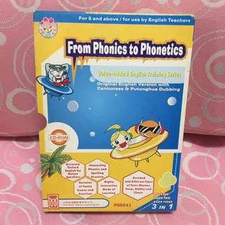 Phonics學習英文CD遊戲光碟