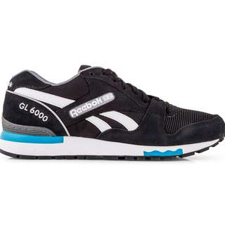 6a88389d380b Reebok GL 6000 Mens Suede Classic Line Black Alloy Blue White Brand New