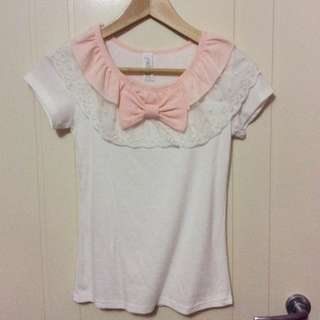 Korean Style Pink Cream Shirt