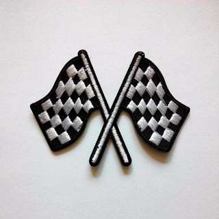 Racing Flag Iron On Patch