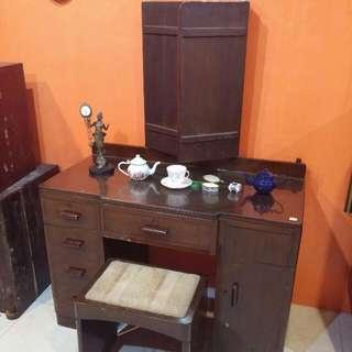 Antique Vanity Table Teak Wood