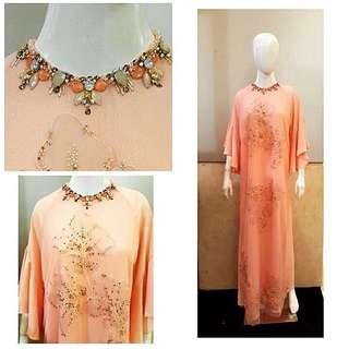 Peach Flower Beads Kaftan