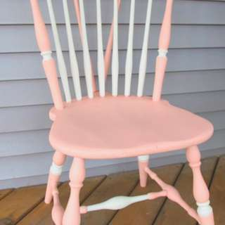 Pink & White Windsor Chair