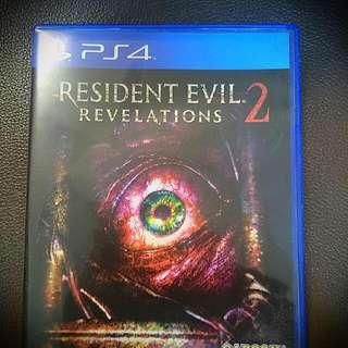 Ps4.  Resident evil 2. Revelations 中文