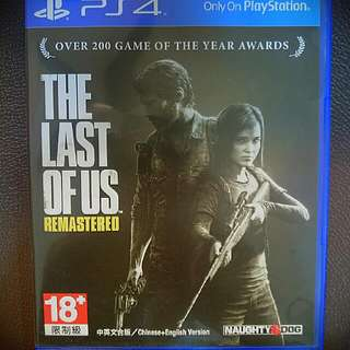 Ps4.  The last of us remastered 中文
