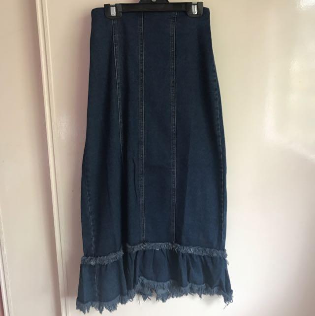 3/4 Denim Skirt