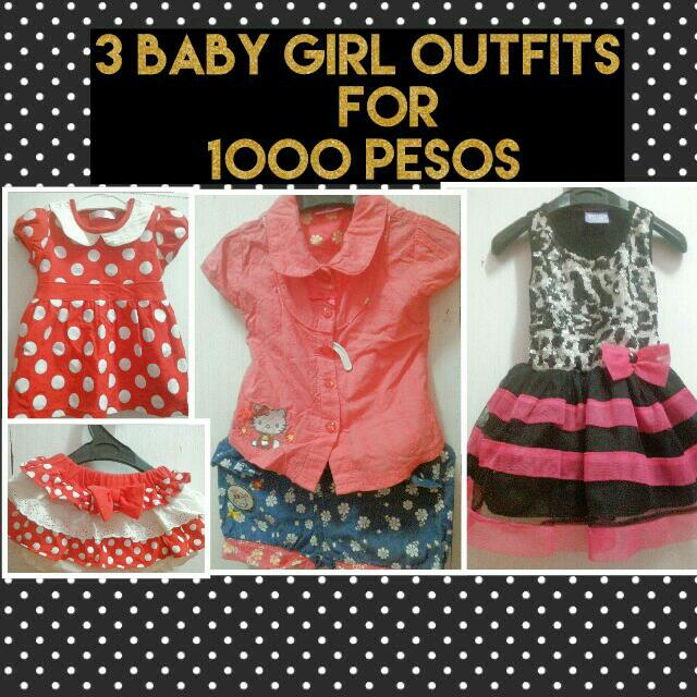 3 in 1 dress for baby girls 1-2 yrs old