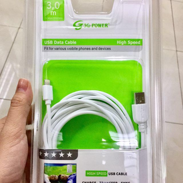 3 METERS Charging / Sync Cord