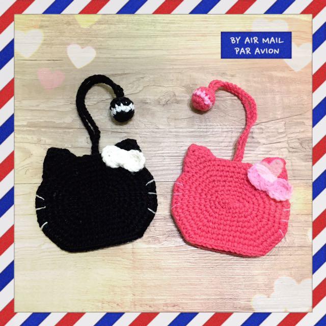🐱🐱鑰匙包  ✿ 毛線編織手作雜貨 ✿