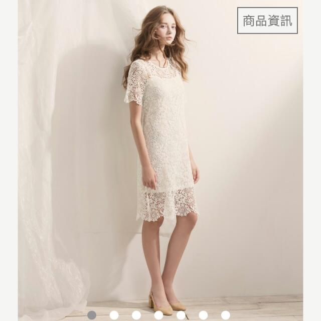 白色典雅氣質小洋裝(Meier Q)