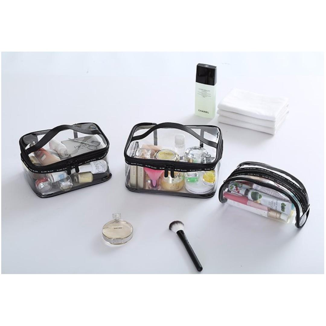旅行收納袋 洗漱包 化妝包 手拿包 防水透明整理包 隨身收納包 小物收納#b120