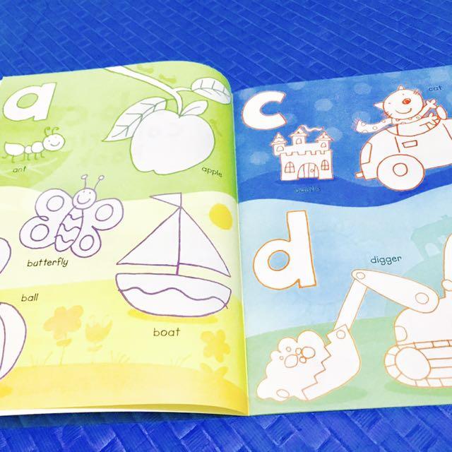 ABC: Usborne Coloring Book with Sticker, Books, Children\'s Books on ...