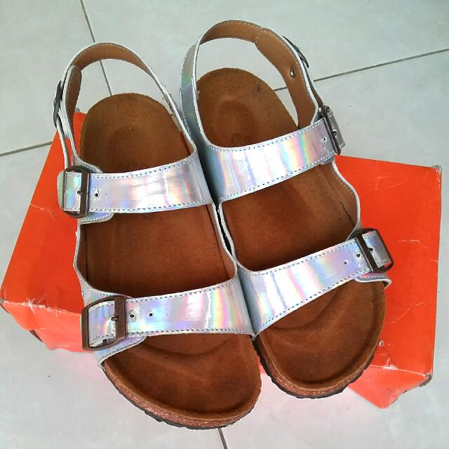 Sepatu Sendal By Adorableproject Shoes Silver Uk 37