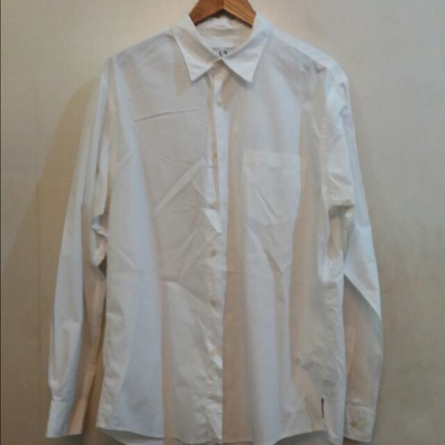 Armani Xchange Formal White Long Sleeve Polo