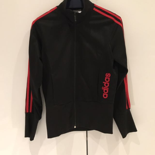 Adidas tracksuit pants and a jacket