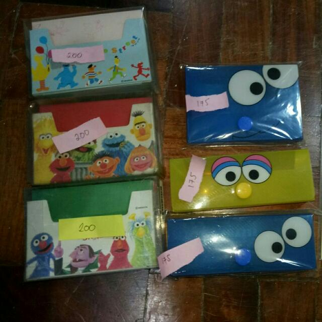 Assorted Sesame Street Stationary And Containers