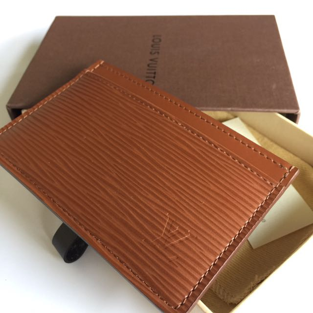 Authentic Louis Vuitton Card Holder in Epi Leather