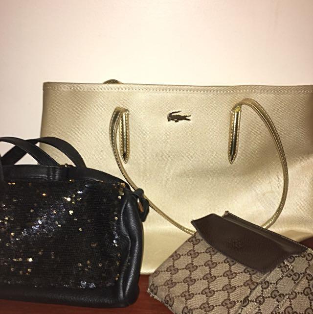 Bags - Lacoste, Gucci