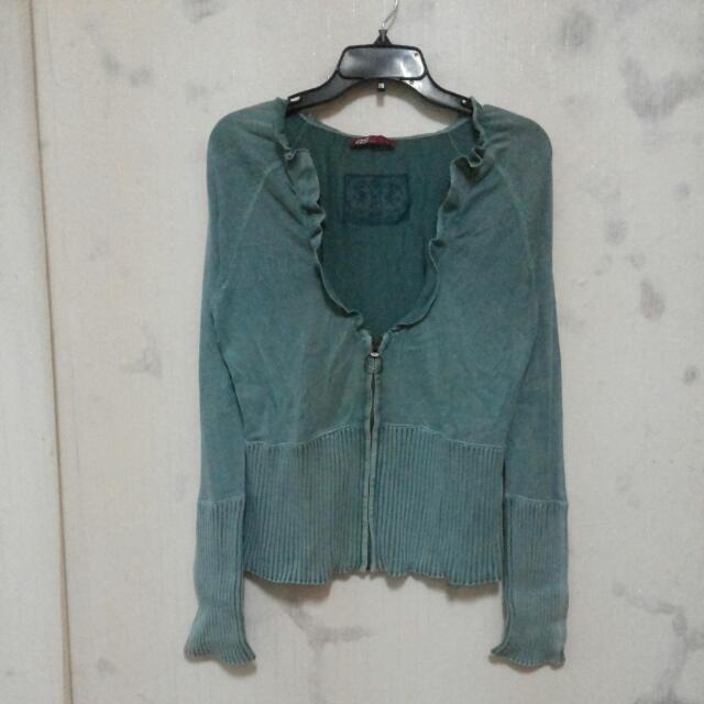 Baju Sisa Export Sweater Hijau
