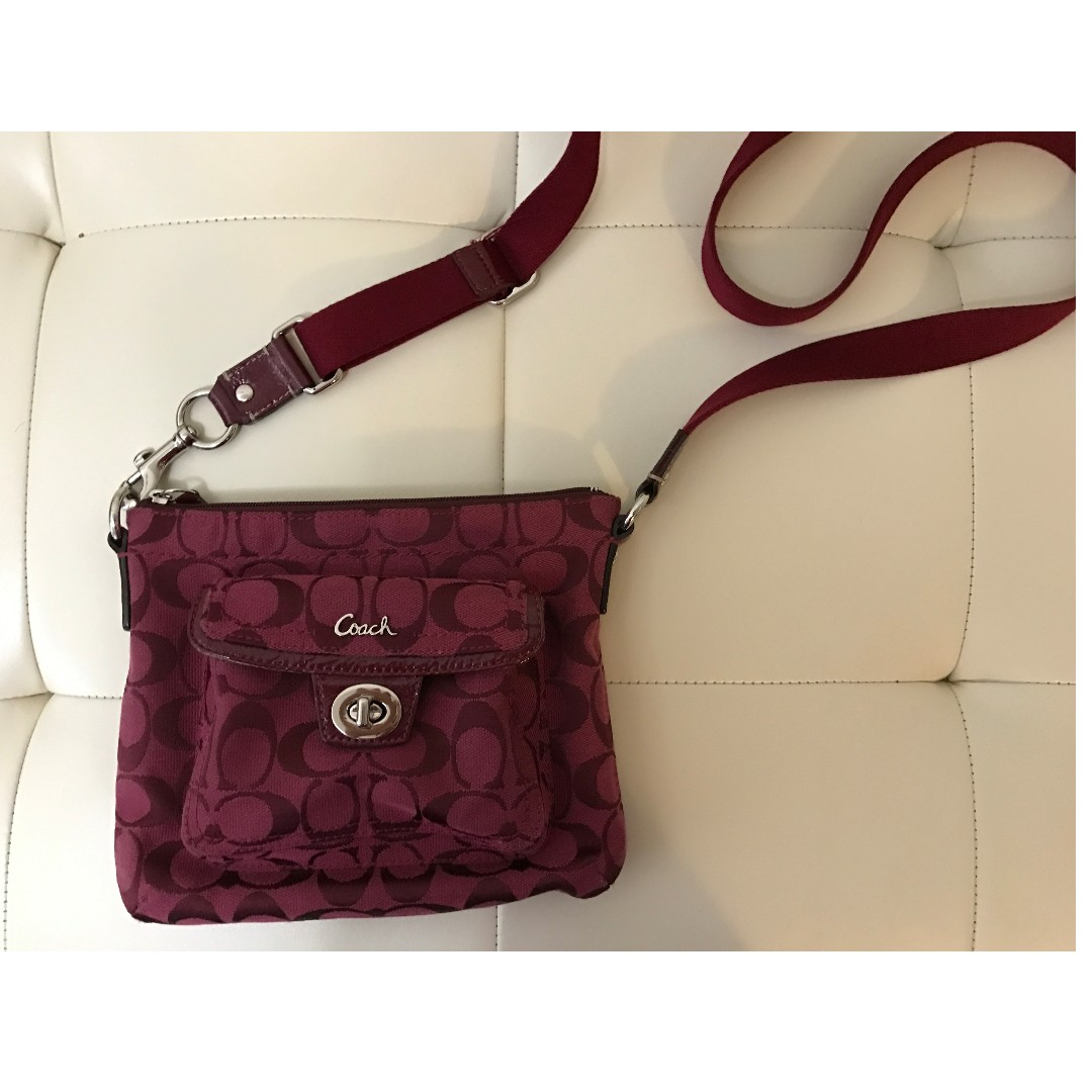 Beautiful Burgundy Coach Side Bag