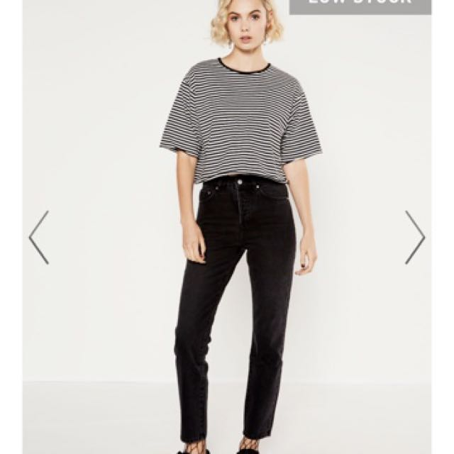 BLACK 90'S FIT GLASSONS JEANS