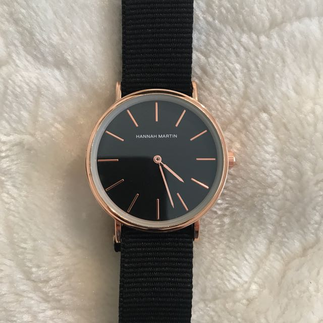 Black And Gold Hannah Martin Watch
